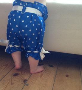 baby girls shorts pattern detail