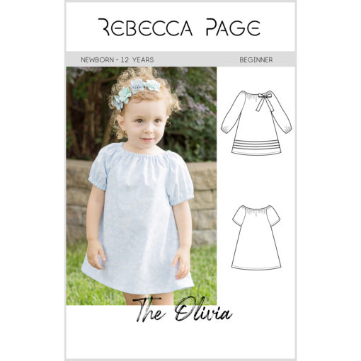 Olivia is a childrens boho top sewing pattern that is simply beautiful with a gathered boat neck and a relaxed, comfy fit.