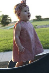 Alice Dress - 12-18 months a-line reversible dress PDF pattern
