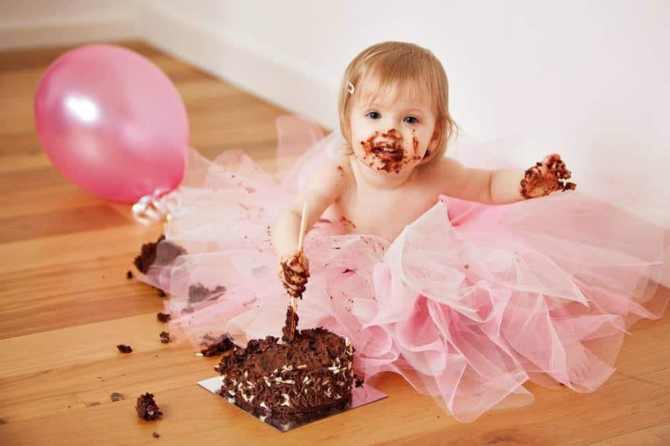 No sew tutu - covered in chocolate