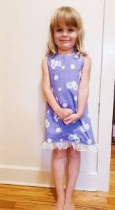 Amy cross over open back dress with bias binding