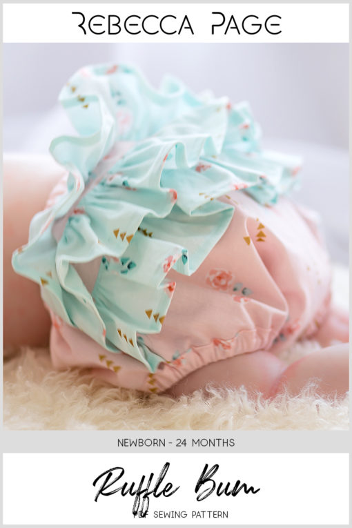 This half ruffled diaper cover pattern is for kidlets in the newborn to 24 months size range. It is super cute and easy to sew.