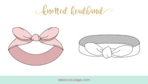 This Knotted Headband sewing pattern will teach you how to make an incredibly easy knotted headband in sizes newborn to 12 years.