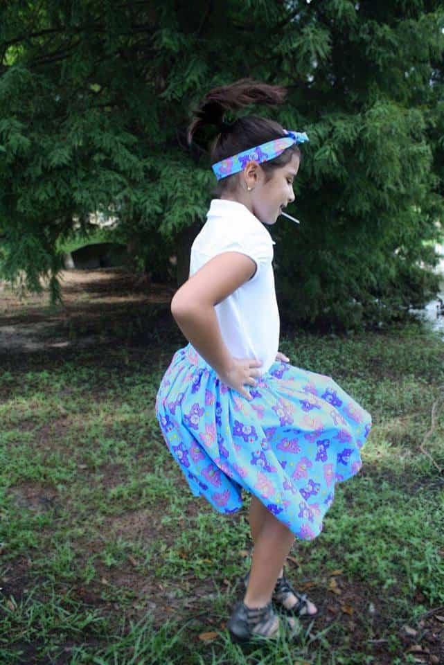Easy Peasy Skirt and Knotted Headband by Linette Torres