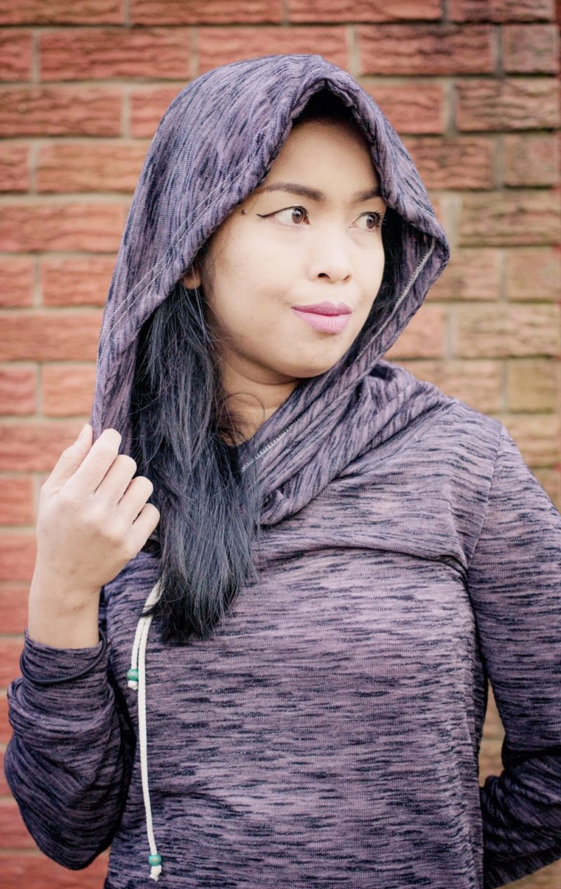 Super comfy and oh so cosy, the ladies cowl hoodie sewing pattern has an optional front pocket, optional hood cord and comes in XXS to 5XL sizes. Comfy Cowl