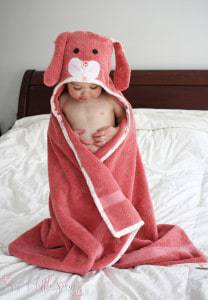 Hooded Bunny Towel Tutorial and Free Pattern