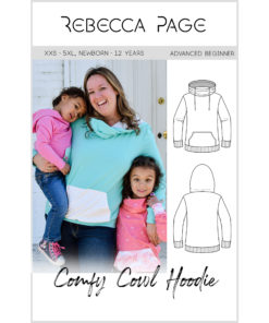 Make yourself and your kidlet a hoodie each with this Comfy Cowl hoodie pattern bundle. XXS to 5XL and children's Comfy Cowl Hoodie PDF Sewing Patterns.