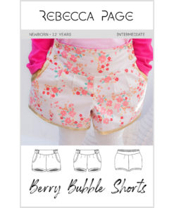This childs bubble shorts pattern is fully lined and has no raw edges showing, giving a truly boutique professional finish.