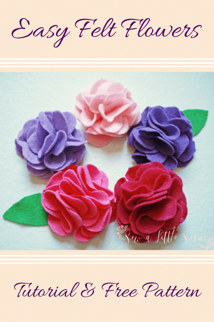 Felt Flower Tutorial & Free Pattern
