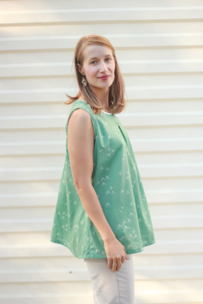 The St. Tropez Swing is a chic, comfortable, and versatile ladies swing top and dress sewing pattern with cut out detail in the back.