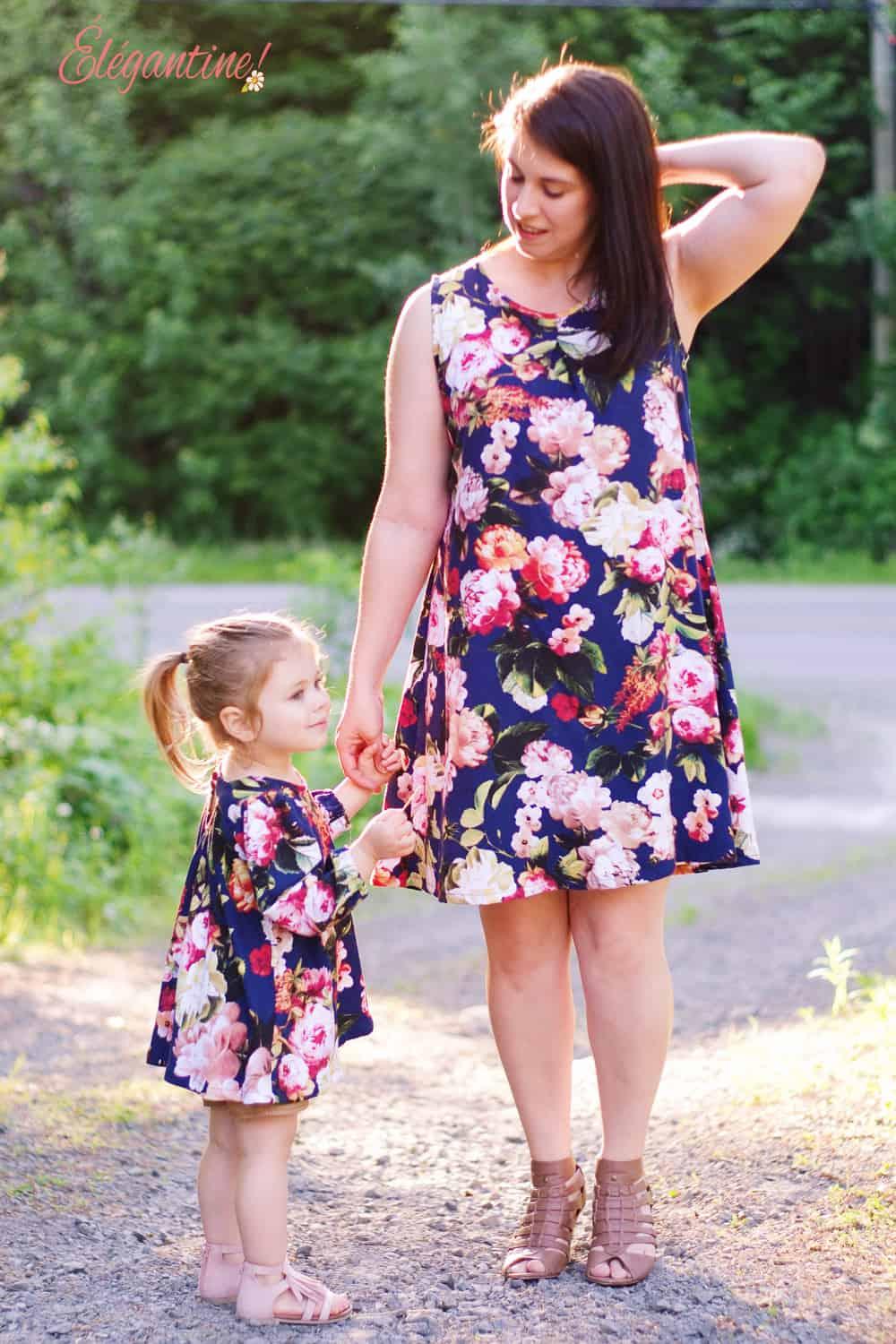 The St. Tropez Swing top sewing pattern is a pretty, chic, comfortable, and versatile swing top and dress sewing pattern with cut out detail in the back.