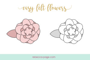 This easy, free felt flowers pattern is super fun! Grab your glue gun, some felt, and get crafty whipping up these beauties for headbands and decorations!