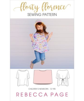 This beautiful childrens floaty top pattern is the wonderful Floaty Florence! A simple yet stunning top pattern! Floaty Florence is love!