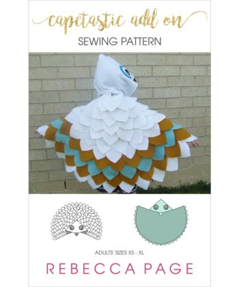 A gorgeous unisex cape pattern you can customize to be any feathered animal! This is an add-on pattern including the unisex adults cape pattern pieces.
