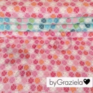 Frollein S Fabrics pink Clover by Graziela