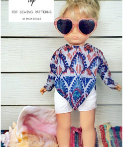 It's dreamy, it's drapey, and it's easy to sew... the Dreamy Drape Top is a dolls batwing top sewing pattern that's super cute and totally on-trend.