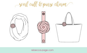 This little beauty is an accessory for your accessory. Darling and functional! A lovely scarf cuff, purse charm, or even a piece of funky jewellery!