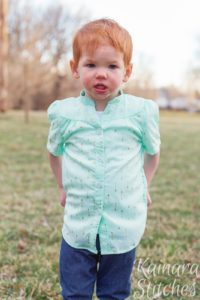 The Madison is a gorgeous children's tie neck blouse pattern that can be lengthened to a dress! It's a beautifully-finished, supremely lovely, garment.