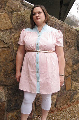 The Madison is a gorgeous ladies tie neck blouse pattern that can be lengthened to a dress! It's a beautifully-finished, supremely lovely, garment.