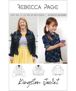 This beautifully-finished denim jacket sewing pattern has 5 sleeve options. There are also optional side seam pockets and optional front pockets with flaps.