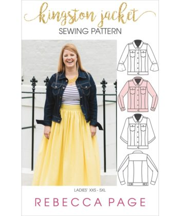 The Kingston is a ladies denim jacket pattern. It is a beautifully-finished jacket in sizes XXS to 5XL and has many different options to make it unique!