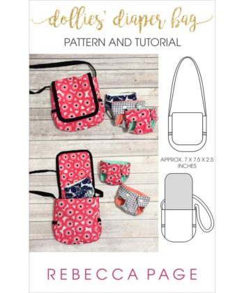 My youngest is currently obsessed with baby dolls. I wanted to make some accessories, so I'm sharing a cute and fun project for a dollies diaper bag pattern