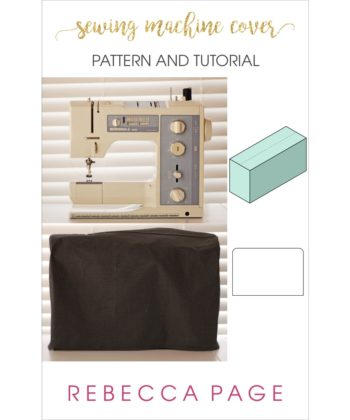 Your sewing machine is the heart of your sewing space and it needs to be protected with this lovely sewing machine cover sewing pattern!