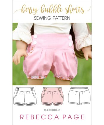This 18-inch dolls bubble shorts pattern is beautifully finished and fully lined without raw edges showing, giving it a truly professional finish.
