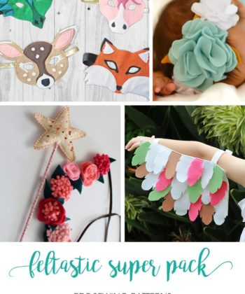 Excellent value, super cute, and easy to create felt dress up patterns are yours with this Feltastic Super Pack, the ultimate dress up pattern bundle!