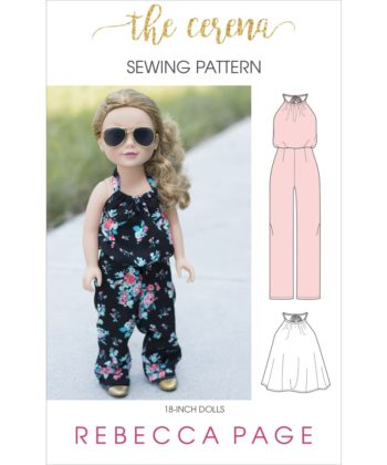 The Cerena is dolls romper pattern that can be sewn as a top or a romper! The romper has three leg length options and pockets!