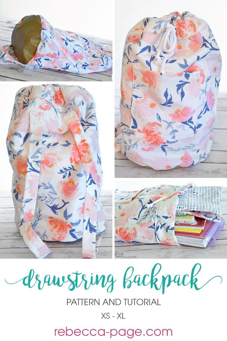 Drawstring Backpack Diy Youtube