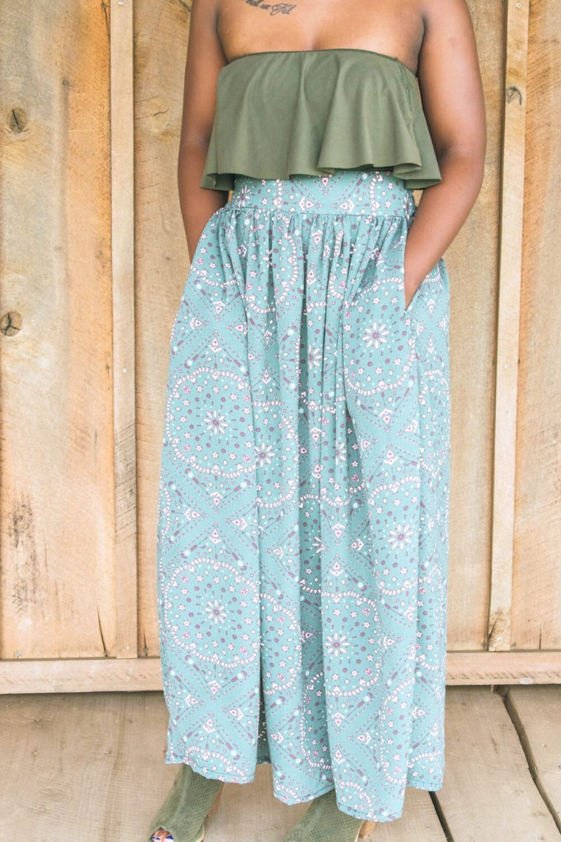 The Arabella is a gorgeous ladies maxi skirt pattern. An easy and quick sew with lots of options, it's a perfect beginner skirt sewing pattern!