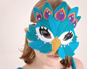 This FREE DIY peacock costume includes a tutu and a mask pattern for lots of dressing up fun! Instructions are given on how to customise it for all sizes!