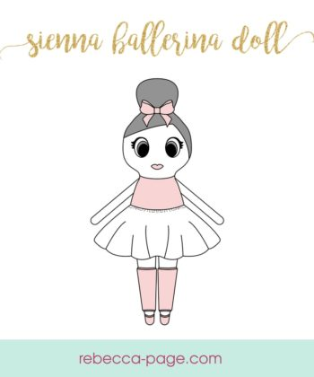 It's time for another adorable little pattern! Introducing the Sienna Ballerina Doll Pattern. Includes three sizes - small, medium, and large.