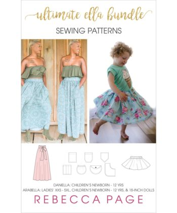 The Ultimate Ella Bundle includes:The Daniella Skirt,The Arabella Skirt and the Ultimate Patch Pocket Pattern. It's an incredible value skirt pack!