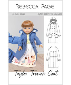 The Taylor Trench is the ultimate dolls trench coat pattern. Choose from trench or coat lengths, plus there are tons of gorgeous optional details!