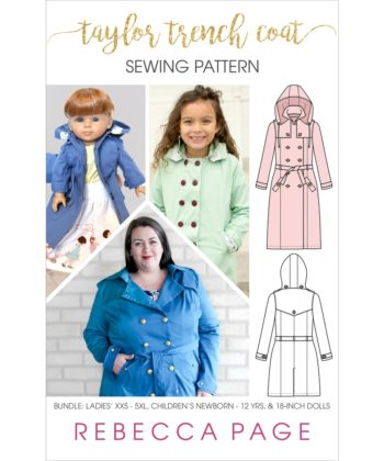 The Taylor Trench is the ultimate trench coat sewing pattern. Choose from trench or coat lengths, plus there are tons of gorgeous optional details!