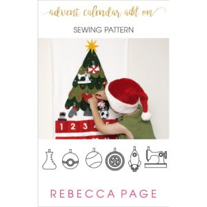 Add to our free Advent Calendar sewing pattern with these bonus Christmas decorations! The Christmas ornaments pattern makes excellent heirloom decorations!