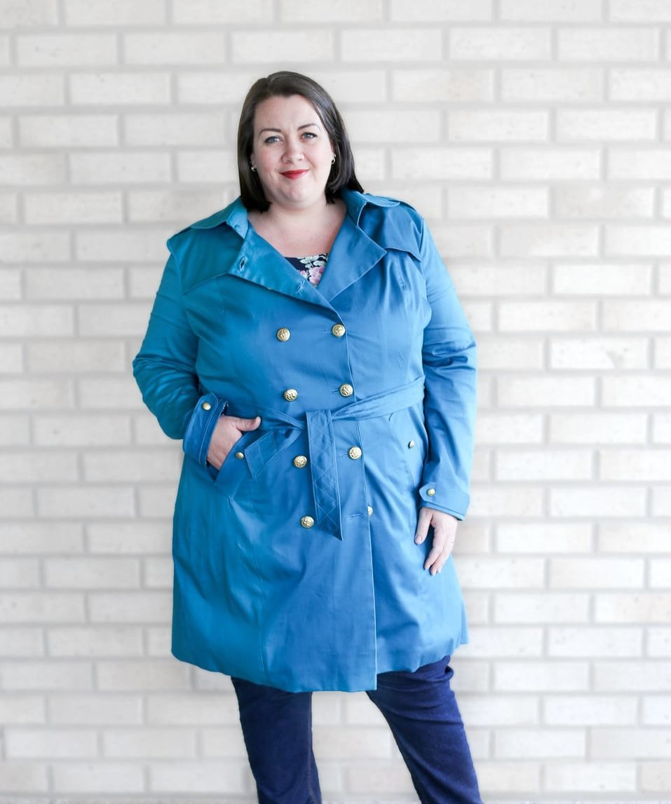 The Taylor Trench is the ultimate ladies trench coat pattern. Choose from trench or coat lengths, plus there are tons of gorgeous optional details!