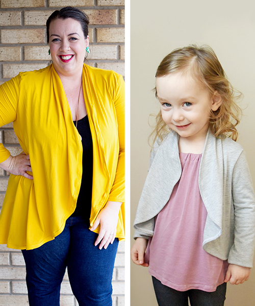 This easy cardie pattern is a quick, easy sew! The Circle Cardie by Rebecca Page has a stunning, and stylish, waterfall drape.