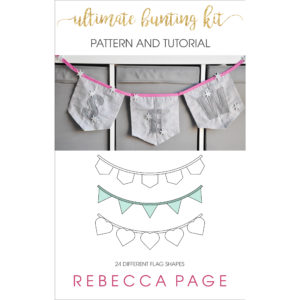 This free bunting pattern is the ultimate bunting kit! It includes 24 shaped flags, plus letters, numbers, and pockets to make up the decor of your dreams!