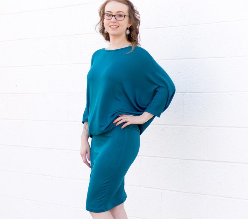 Super charge your Dreamy Drape Top to a Dreamy Drape DRESS with this batwing dress pattern! It will change the Top into the most flattering and comfy dress!