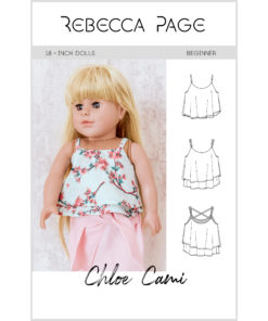 The Chloe Cami is a supremely beautiful dolls cami sewing pattern that is an ideal starting block for dressing an outfit up or down, for the perfect look.