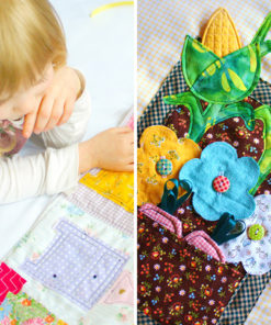 A dolls house pattern bundle - Pick your scene setting and sew a beautiful, interactive quiet time book – or add all the backdrops for a winding tale.