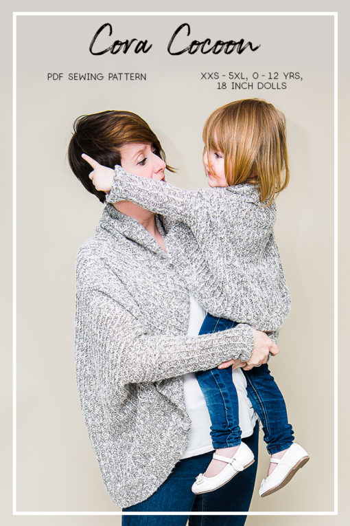 Wrap yourself in a cocoon of warmth and style with the Cora Cocoon cardigan. This bundle includes the ladies, girls and dolls Cora Cocoon!