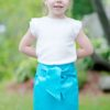 This childrens pencil skirt sewing pattern gives you a sweet, simple, and comfortable skirt for your little one. Features a show-stopping bow for extra wow!