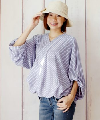 Neve is a stunning ladies wrap blouse sewing pattern. She's an exquisitely simple sew suitable for both knits and wovens that you'll love.