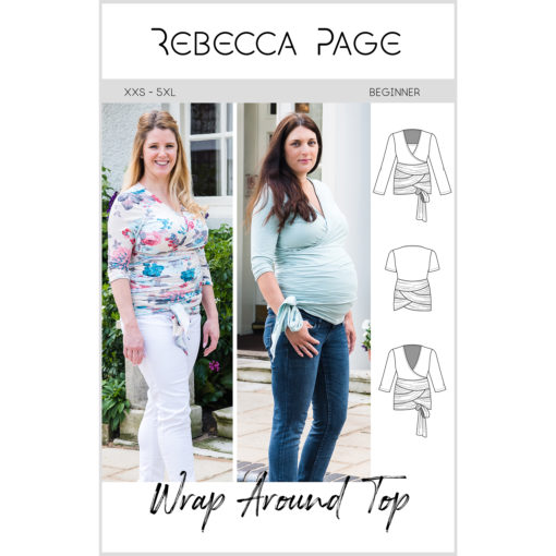 The Wrap Around Top sewing pattern is form fitting and supremely comfortable, while also offering support and versatility for every body shape and size.