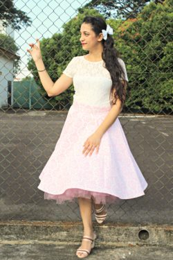 "The beautiful tea-length Betty vintage circle skirt sewing pattern is exactly what ""vintage"" means: high quality and lasting value!"