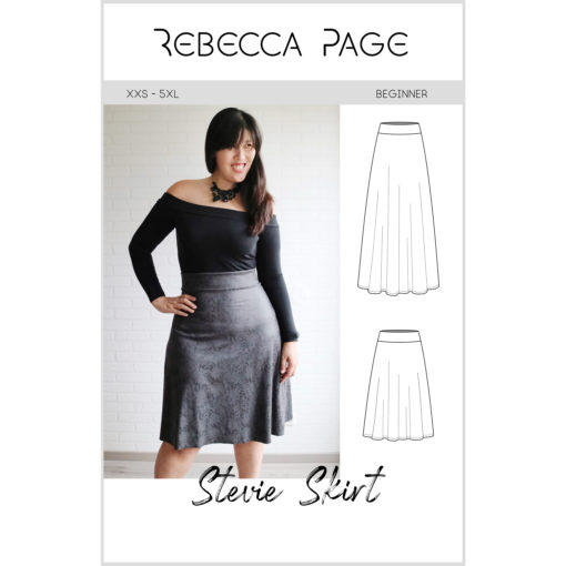 """What sews up quicker than you can say """"ladies jersey skirt sewing pattern""""? Not quite this Stevie skirt but it does come in at a very close second!"""
